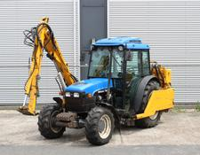 New Holland TN90F met Herder Frontier maaiarm / mowing arm / Mähausleger